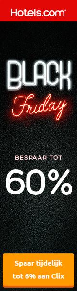 Hotels.com Pre-Black Friday promotie tot 60% korting