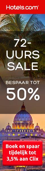 Hotels.com 72-uurs Sale tot 50% korting op hotels