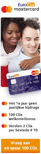 EuroClix Mastercard spaar Clix met al jouw aankopen