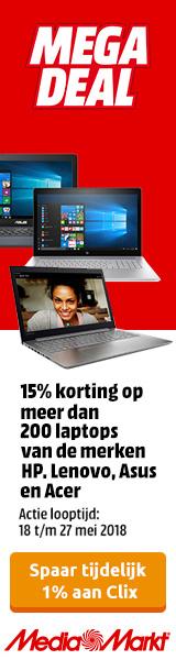 MediaMarkt 15% korting op laptops