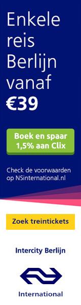 NS International boek voor € 39 een enkeltje naar Berlijn