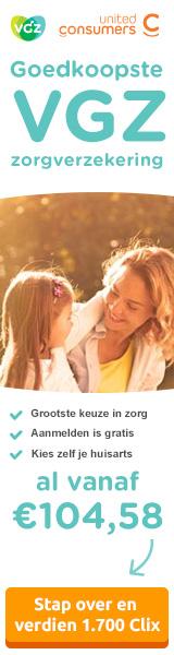 UnitedConsumers Zorgverzekering VGZ premie vanaf 104,58 euro