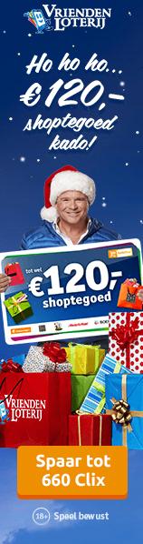 VriendenLoterij gratis shoptegoed 120 euro